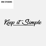 16.2CM*3CM Fashion Keep It Simple Reflective Car Window Sticker Black Silver Vinyl Decal C11-1598