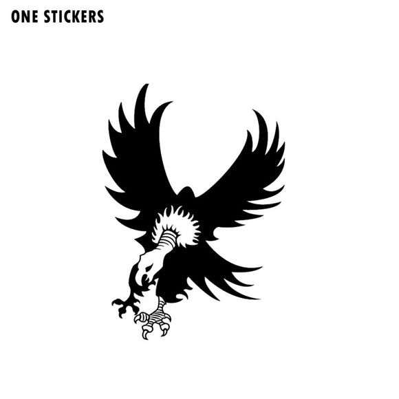 11.3CM*16CM VULTURE LANDING Personality Vinyl Car Sticker Decal Car-styling Black/Silver C15-0788