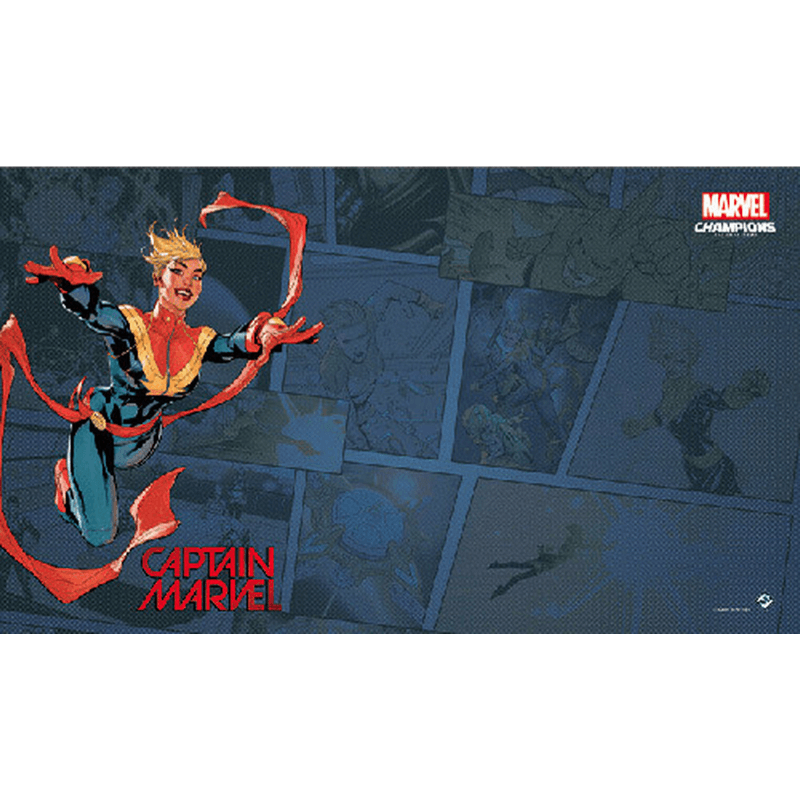 Marvel Champions: The Card Game – Captain Marvel Game Mat