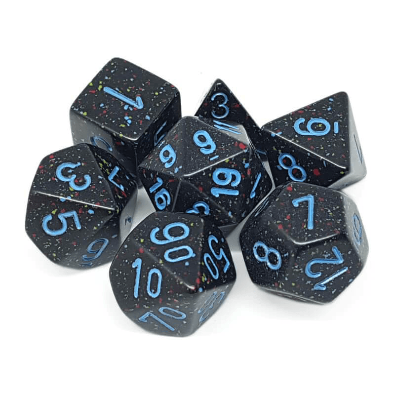 Chessex: Speckled 7 Polyhedral Dice Set - Blue Stars