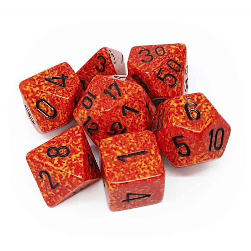 Chessex: Speckled 7 Polyhedral Dice Set - Fire