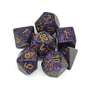 Chessex: Speckled 7 Polyhedral Dice Set - Hurricane