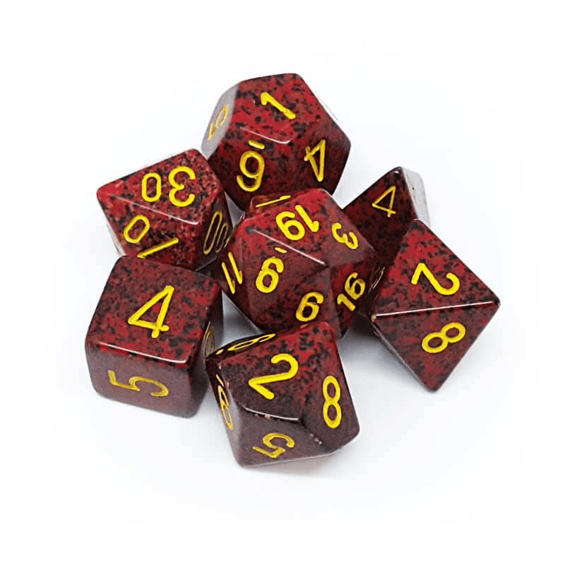 Chessex: Speckled 7 Polyhedral Dice Set - Mercury