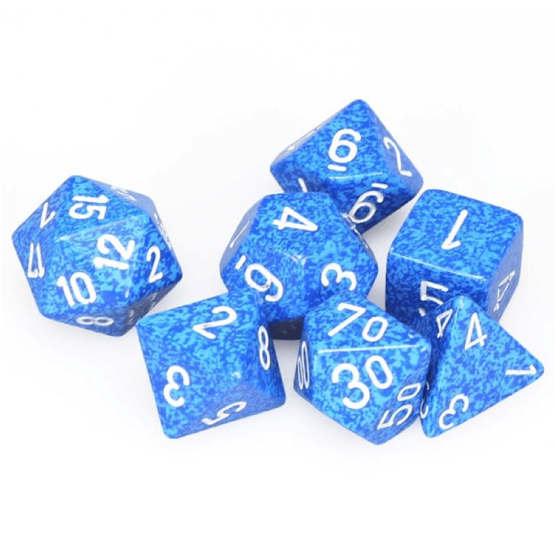 Chessex: Speckled 7 Polyhedral Dice Set - Water