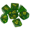 Chessex: 7 Polyhedral Dice Set - Borealis Maple Green