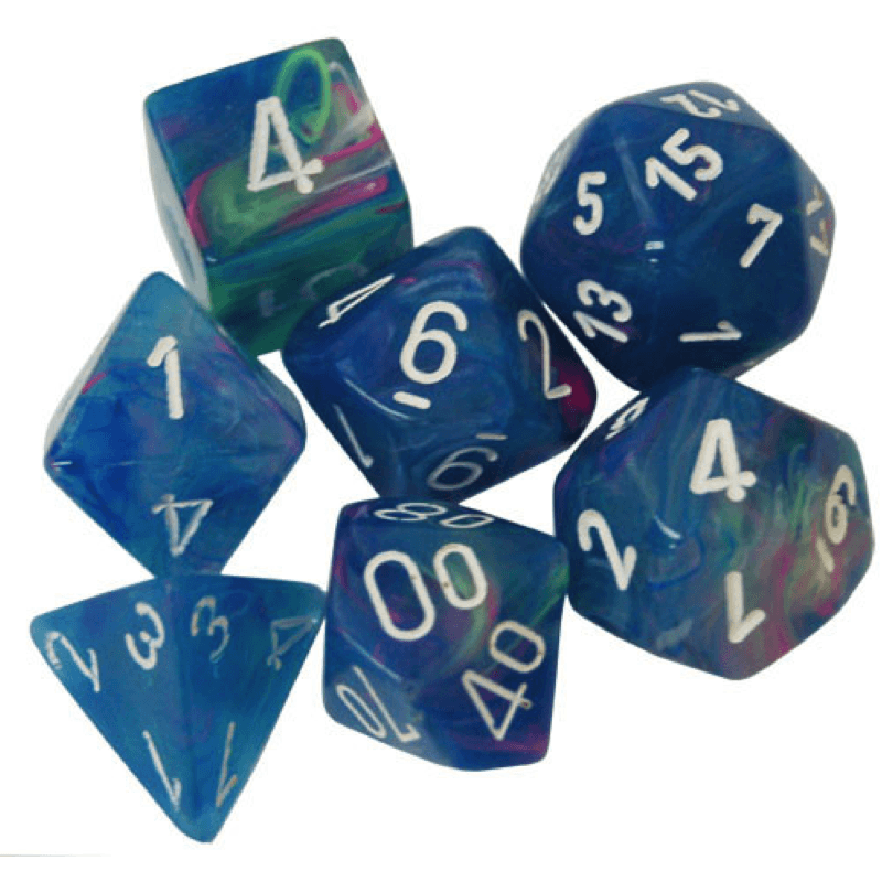 Chessex: 7 Polyhedral Dice Set - Festive Waterlily