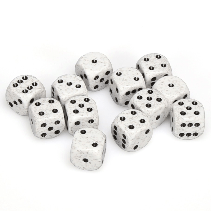 Chessex: Speckled D6 16mm Dice Set - Arctic Camo
