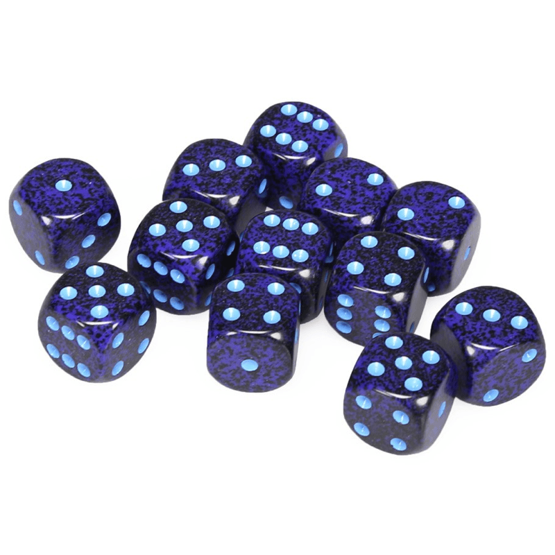 Chessex: Speckled D6 16mm Dice Set - Cobalt