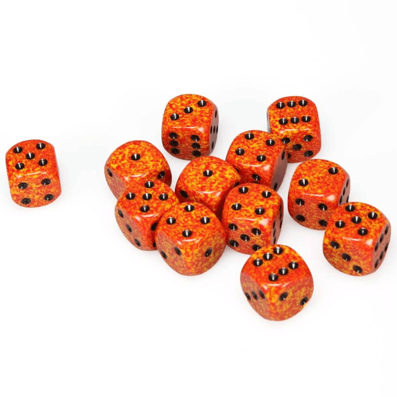 Chessex: Speckled D6 16mm Dice Set - Speckled Fire