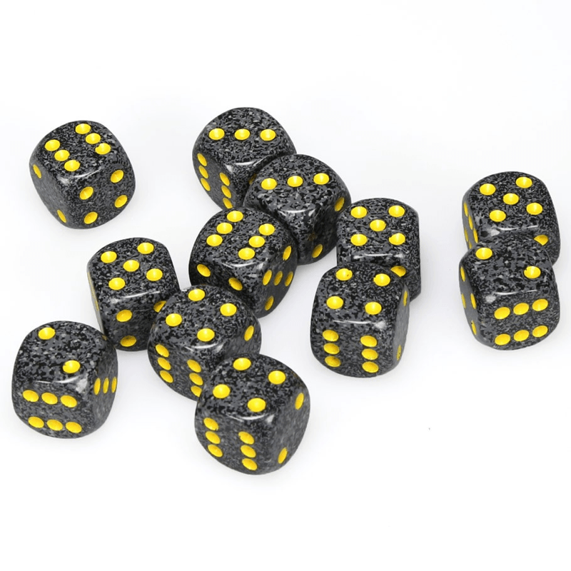 Chessex: Speckled D6 16mm Dice Set - Golden Cobalt