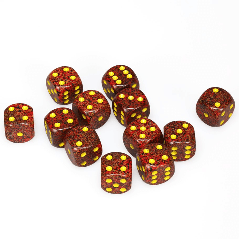 Chessex: Speckled D6 16mm Dice Set - Mercury