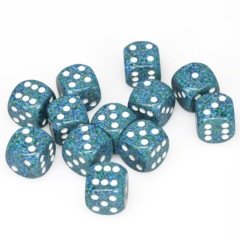 Chessex: Speckled D6 16mm Dice Set - Sea
