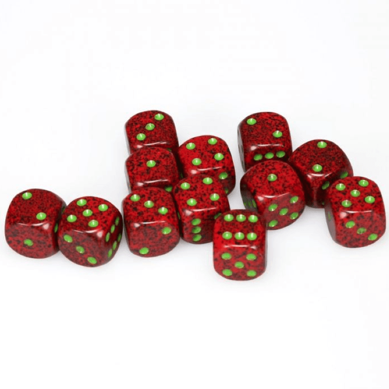 Chessex: Speckled D6 16mm Dice Set - Strawberry