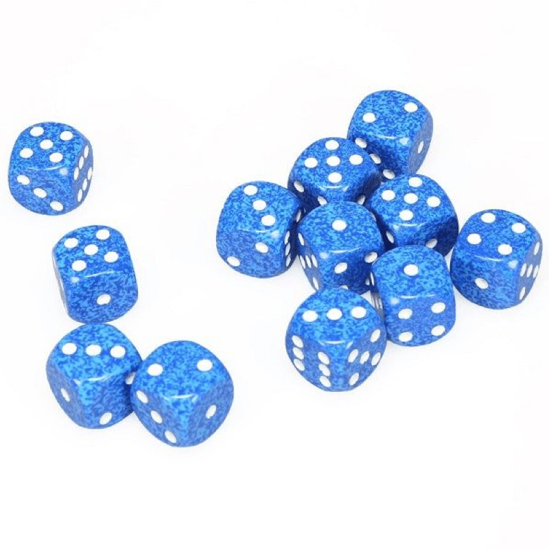 Chessex: Speckled D6 16mm Dice Set - Water