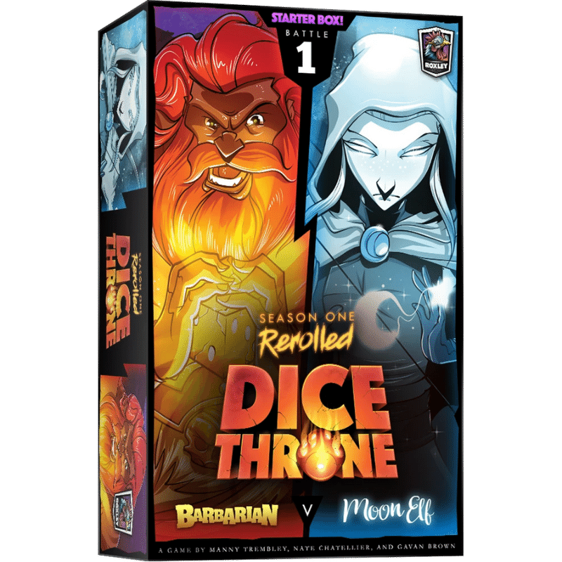 Dice Throne: Season One Rerolled - Barbarian Vs. Moon Elf (PRE-ORDER)