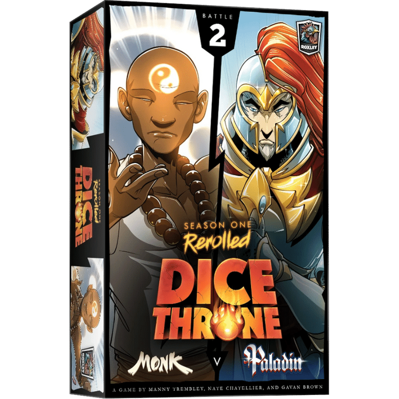 Dice Throne: Season One Rerolled - Monk Vs. Paladin (PRE-ORDER)