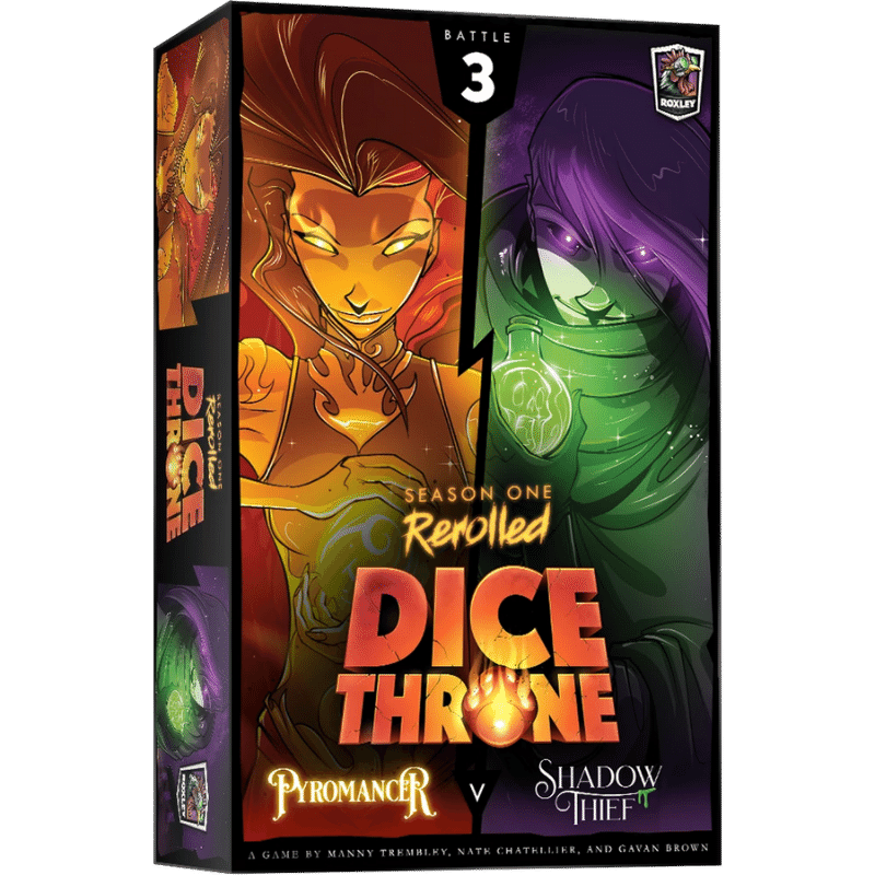 Dice Throne: Season One Rerolled - Pyromancer Vs. Shadow Thief (PRE-ORDER)