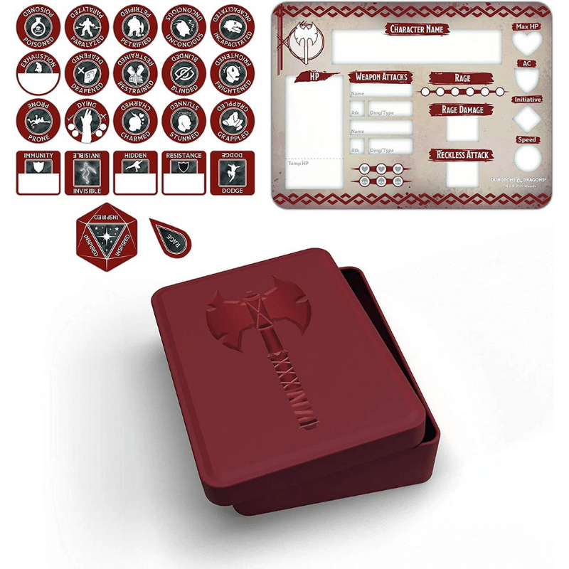 Dungeons And Dragons RPG: Barbarian Token Set