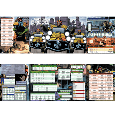 Judge Dredd & The Worlds of 2000 AD RPG: GM Screen
