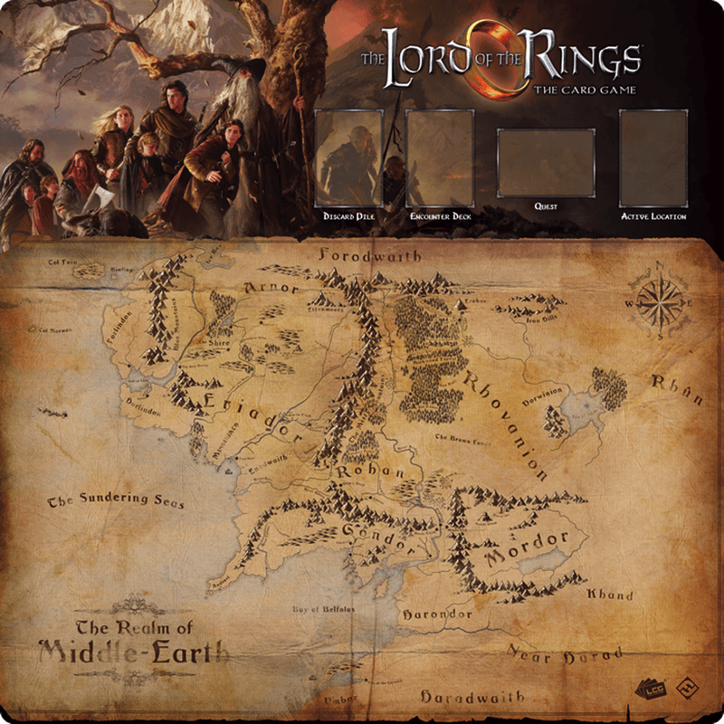 The Lord of the Rings: The Card Game – Fellowship 1-4 Player Game Mat (PRE-ORDER)