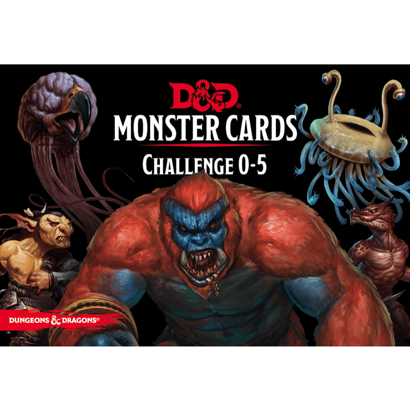 Dungeons & Dragons (5th Edition): Monster Cards: Challenge 0–5