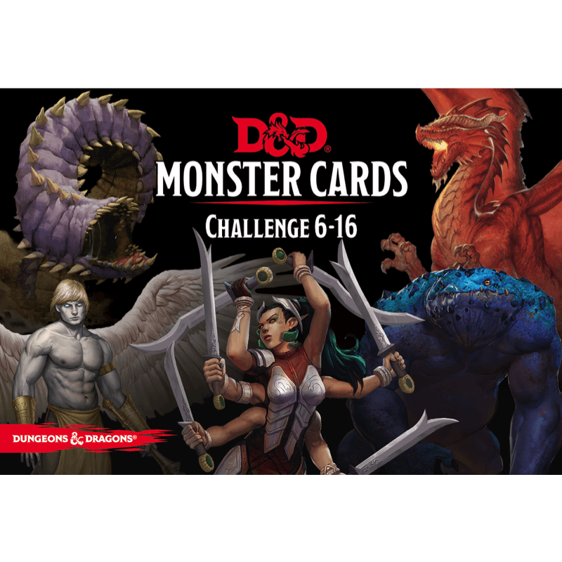 Dungeons & Dragons (5th Edition): Monster Cards: Challenge 6–16 (PRE-ORDER)
