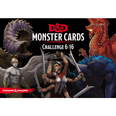 Dungeons & Dragons (5th Edition): Monster Cards: Challenge 6–16