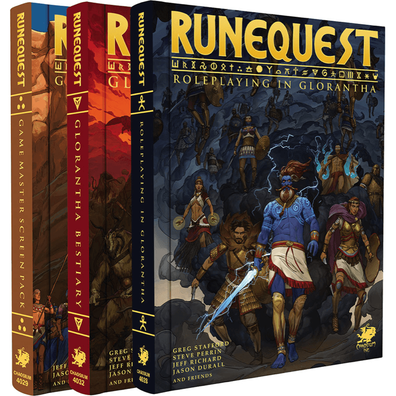 RuneQuest: Roleplaying in Glorantha - Deluxe Slipcase Set (PRE-ORDER)