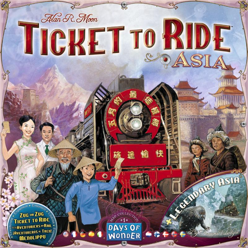 Ticket to Ride Map Collection: Volume 1 – Team Asia & Legendary Asia - Thirsty Meeples