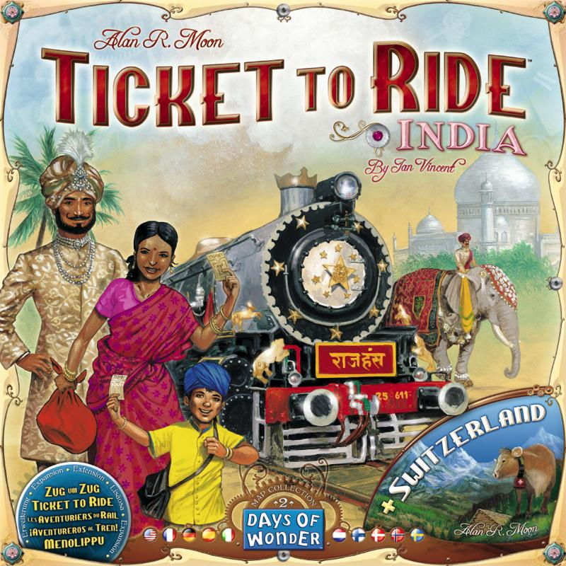 Ticket to Ride Map Collection: Volume 2 - India & Switzerland - Thirsty Meeples