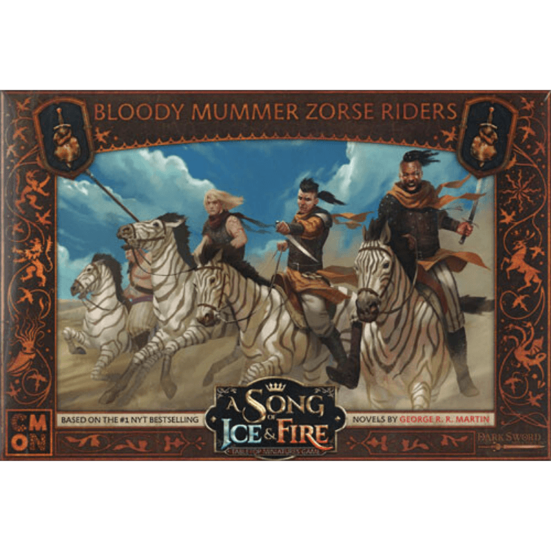 A Song of Ice & Fire: Tabletop Miniatures Game – Bloody Mummer Zorse Riders Unit Box