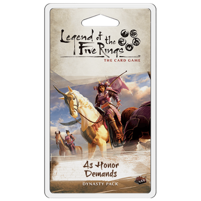Legend of the Five Rings: The Card Game - As Honor Demands Dynasty Pack (PRE-ORDER)