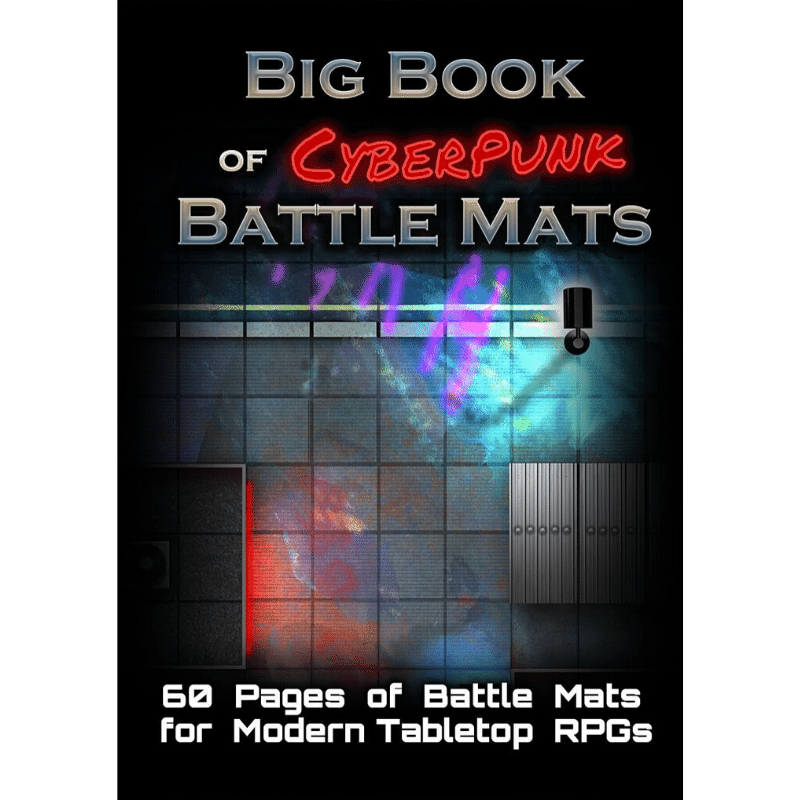 "Big Book of CyberPunk Battle Mats - A4 (12x9"")"