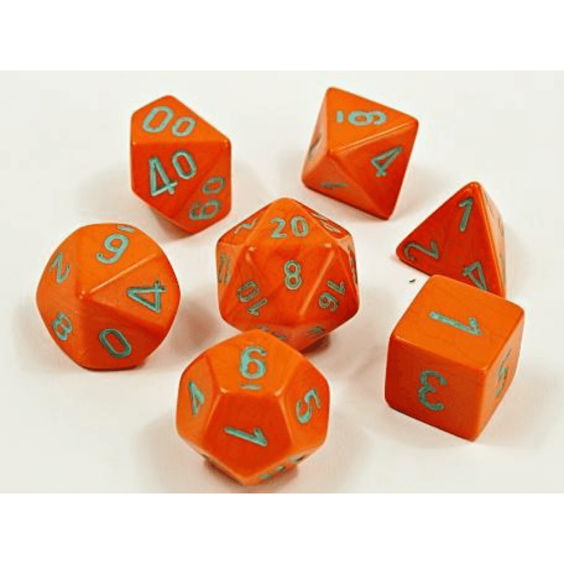Chessex: Heavy Dice Orange/Turquoise 7-Die Set Lab Dice