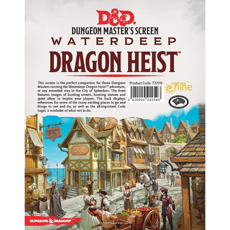 Dungeons & Dragons (5th Edition): DM Screen - Waterdeep: Dragon Heist