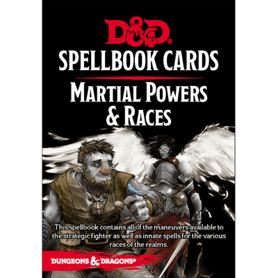 Dungeons & Dragons (5th Edition): Spellbook Cards - Martial Powers & Races