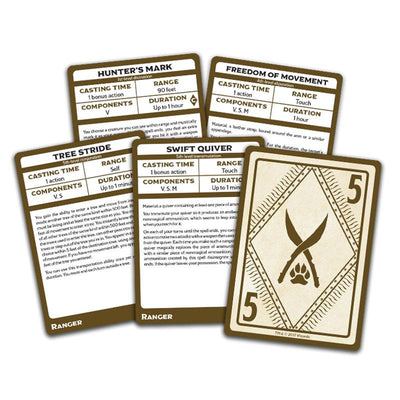 Dungeons & Dragons (5th Edition): Spellbook Cards - Ranger