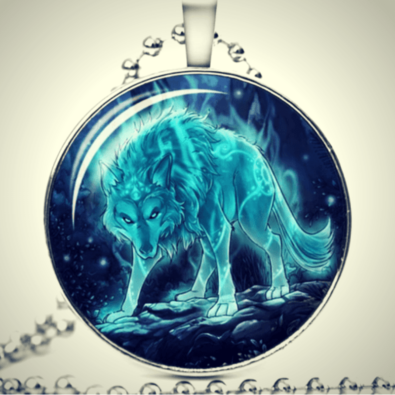 Collier fantastique -Loup lumineux- - Wolf Yuhna
