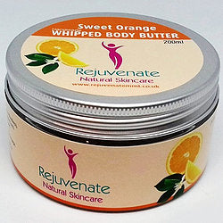 Rejuvenate Natural Skincare Whipped Sweet Orange Body Butter