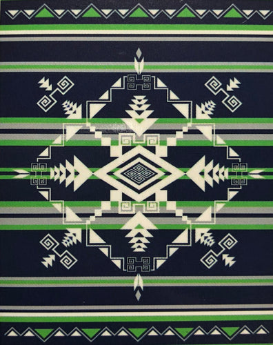 Fleece Blanket - God's Eye Blue/Green