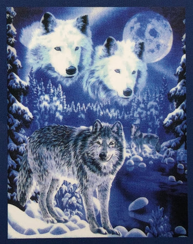 Fleece Blanket - Wolf in Snow