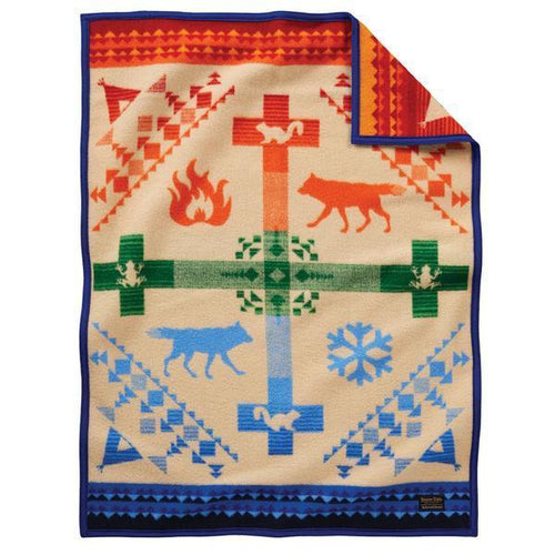 Pendleton Kids Blanket - Coyote Steals Fire