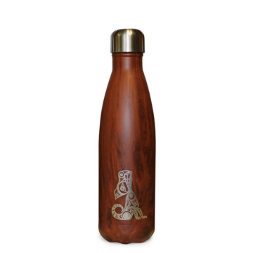 Insulated Bottle -  Wolf Wood Grain
