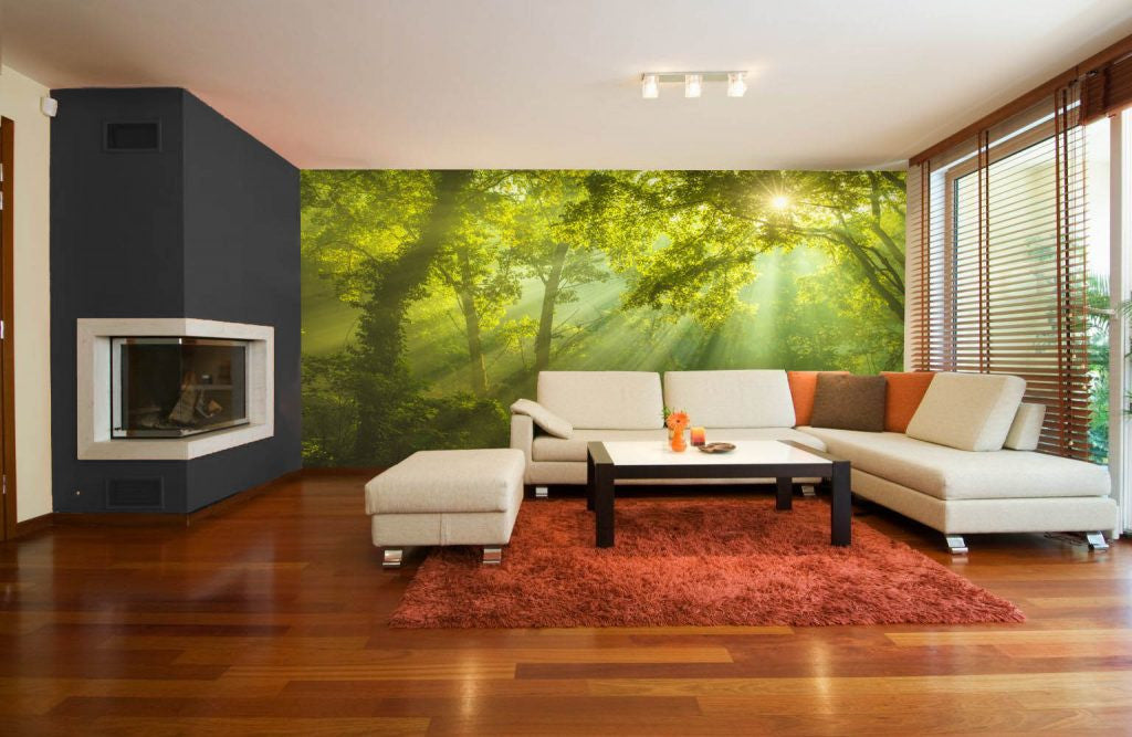 Forest Wall Murals are IN! Greenery, Colour of the Year 2017