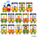 Train Alphabet Wall Sticker Decal-Creative Wallpaper