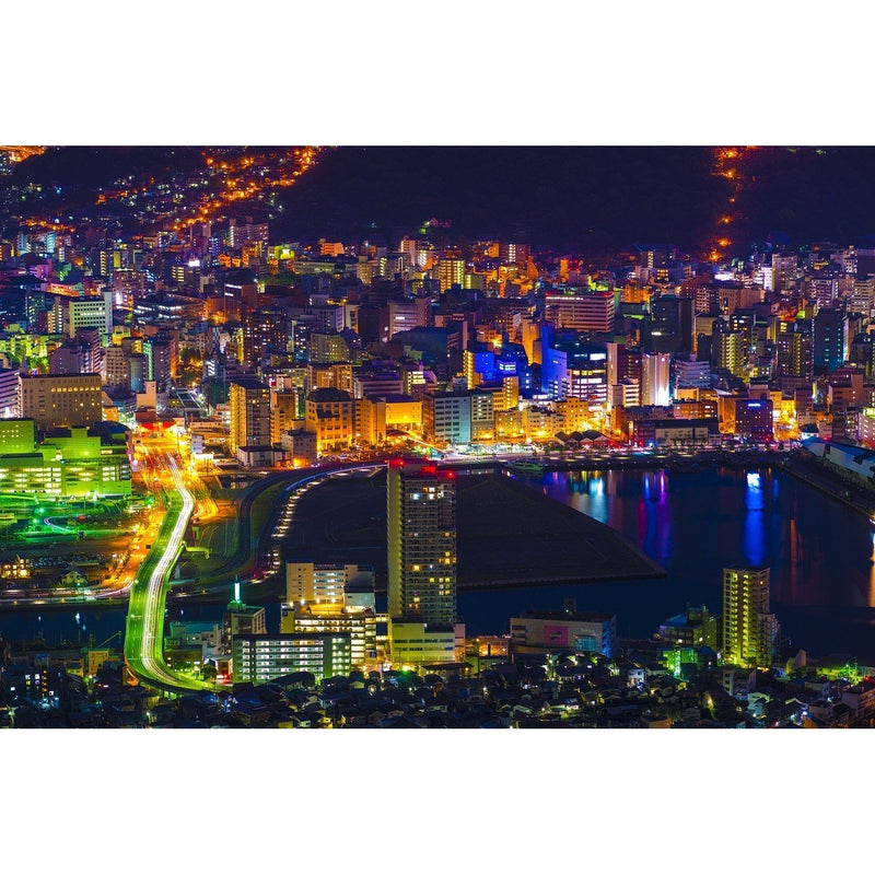 Japan Night View Wall Mural - Premium-Creative Wallpaper