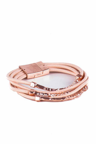 Leather Multi Layer Wrap Bracelet - Tom & Eva