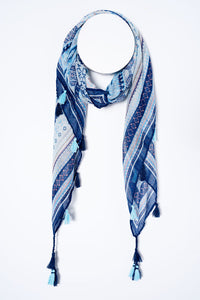 Abstract Print Square Scarf - Tom & Eva