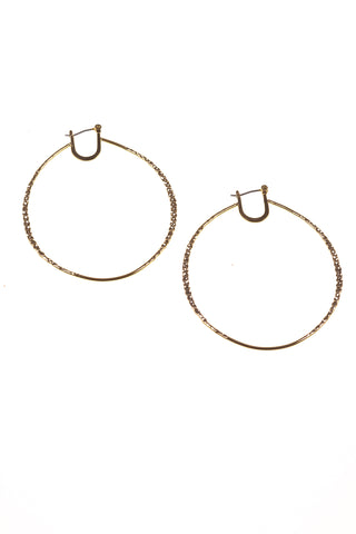 Textured Metallic Hoops - Tom & Eva