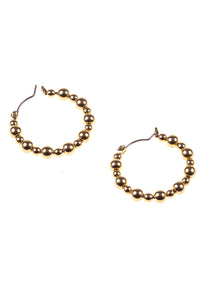 Beaded Metallic Hoops - Tom & Eva